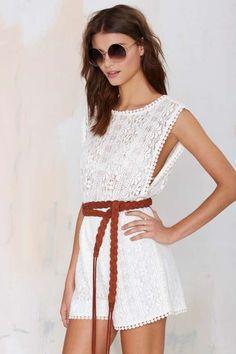 Oasis Lace Romper - Clothes