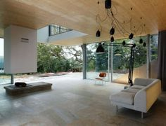 Minimalist House With A Glazed Facade | DigsDigs