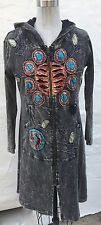 Rising International Sz M hoodie Long duster embroidered Artsy LAGENLOOK Nepal