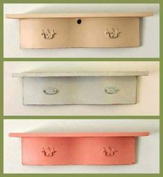 Up Cycle Old Dresser Drawers As Shelves More Drawer Ideas