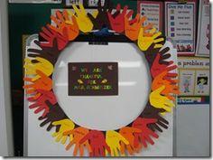 Cute for classroom door - Thanksgiving
