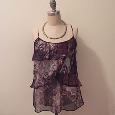 Layered Graphic Top never worn New York & Company Tops Blouses