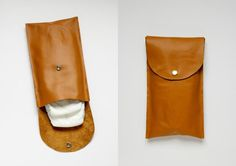 Make this simple leather diaper clutch using this really easy tutorial. Bag Patterns To Sew, Sewing Patterns Free, Sewing Tutorials, Free Sewing, Diaper Clutch Tutorial, Diy Leather Goods, Baby Design, Bag Making, Diaper Bags