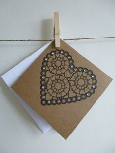 Handmade Wedding Card Engagement Card by pieceofpaperthings, £2.50