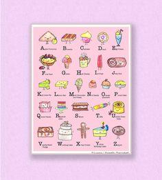 ABC Wall Art Printable Kids Room Or Nursery Decor PDF