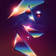 Canadian artist and designer James White is behind a collection entitled Neo-Chrome in which he gathered abstract digital artworks inspired by artistic aestheti James White, New Retro Wave, Retro Waves, Artist Aesthetic, Neon Aesthetic, Aesthetic Vintage, Glitch Art, 80s Design, Design Art