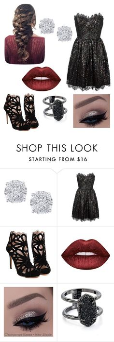 """""""Untitled #186"""" by claudiaacarvalhoo ❤ liked on Polyvore featuring Effy Jewelry, Yves Saint Laurent, Lime Crime and Kendra Scott"""