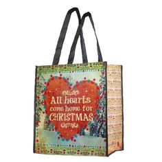 Home for Christmas Large Recycled Gift Bag By Natural Life
