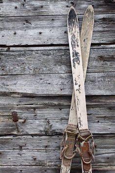 Ski Photo - Old Skis