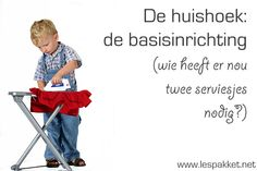Huishoek: de basisinrichting - Lespakket - thema's, lesideeën en informatie - onderwijs aan kleuters Primary Education, Primary School, Pre School, Elementary Schools, Educational Leadership, Educational Technology, Preschool Kindergarten, Preschool Activities, Learning Quotes