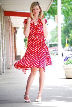 Love this poka dot dress! Want it in Blue