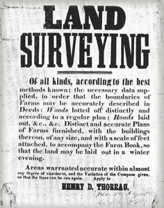 Henry Thoreau Surveying Advertisement - Land Surveyors United