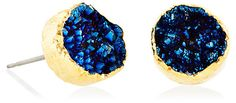 Midnight Blue Drusy Studs | Thoughtful Tokens | One Kings Lane