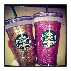 Starbucks Glitter Cup (270 ARS) ❤ liked on Polyvore featuring accessories, food, starbucks, pictures and photos