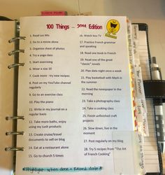 2014 Filofax Organization - 2014 Things To Do #filofax #audreyswifelife