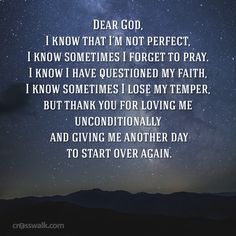 Thank you for giving me a fresh start, Father.