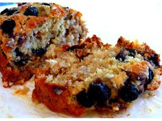 Banana Bread with blue berries, coconut & walnuts
