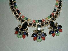 susan graver colorful multi strand statement necklace