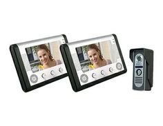 Fashionable aluminum alloy panel of indoor unit. Durable aluminum alloy outdoor unit, water-resistant and oxidation-resistant.  7 inch color TFT LCD.  No radiation, low power consumption and high definition. This camera can be turned up/ down/ left/ right. Hands-free intercom. Electric lock-control function. 16 kinds of ringtones for your choice. Adjustable volume, brightness and contrast. Easy and convenient installation with switch-adapter and 5m cable....Learn More