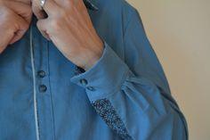 Chemise SAPHIR, patron de couture issu du livre Grains de Couture Hommes et Femmes, Ivanne Soufflet, by CaPerdPasLesPopettes