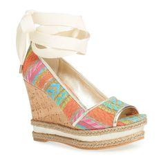 b42c6a4272365d Donald J Pliner  Naomi  Wedge Ankle Wrap Sandal (Women)