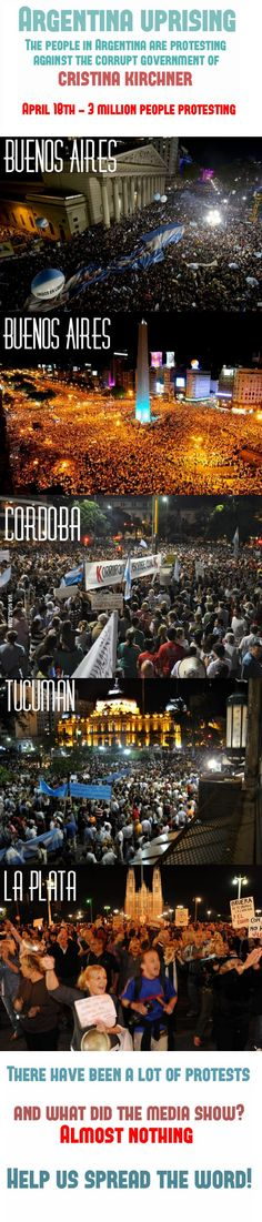 Protests in Argentina! #UPRISING The media doesn't show you this.