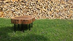 Walnut coffee table 80 jears old Designed and made in austria Walnut Coffee Table, Firewood, Austria, How To Make, Crafts, Design, Crafting, Diy Crafts, Design Comics