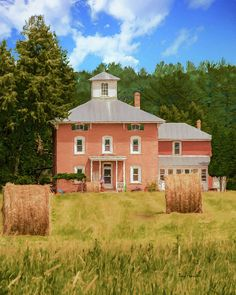 The Aanstad Farm is one of the more impressive examples of architecture with a belvedere in the rural Iola, Wisconsin, area. George Aanstad, a postmaster in Iola, once lived in this house.