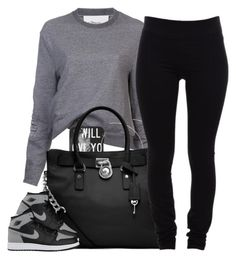 """~ Everything takes time ~"" by mindlesscupkake421 ❤ liked on Polyvore featuring 3.1 Phillip Lim, H&M, MICHAEL Michael Kors, Helmut Lang and NIKE"