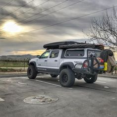 Image may contain: outdoor Toyota Tacoma Roof Rack, Toyota Tacoma 4x4, Tacoma Truck, Jeep Truck, Toyota Tundra, Toyota 4runner, Overland Tacoma, Overland Truck, Expedition Truck