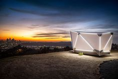 Flat-Pack Prefab Shelter by Jupe - Dwell Glamping, Tesla Spacex, Cosmos, Tiny Mobile House, Ligne D Horizon, Ciel Nocturne, Portable Shelter, Prefab Cabins, Built In Furniture