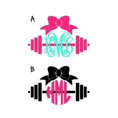 Barbell Monogrammed Decal  Crossfit by SassyMonogramAndMore, $3.00