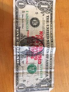 """""""Today, a cashier gave me back a dollar stamped with """"Not To Be Used For Buying Elections"""". If only that was true :("""" Being Used, Give It To Me, Notes, Stamp, Messages, Signs, Twitter, Report Cards, Stamps"""