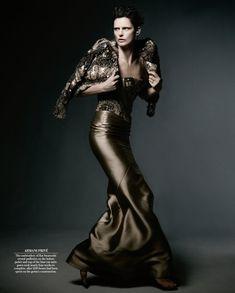 Bring Home the Bronze / Stella Tennant in Armani Privé (WSJ Magazine) / Photographer: Daniel Jackson