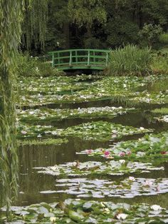 Nov 2019 - Photographic Print: Japanese Bridge and Lily Pond in the Garden of the Impressionist Painter Claude Monet, Eure, France by David Hughes : Spring Aesthetic, Nature Aesthetic, Aesthetic Photo, Aesthetic Pictures, Aesthetic Green, Aesthetic Japan, Rainbow Aesthetic, Japanese Aesthetic, Claude Monet