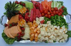 fruit, veggies and cheese tray
