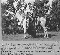 Nez Perce Chief Joseph on horseback, Colville Indian Reservation, Washington, 1903 :: American Indians of the Pacific Northwest -- Image Portion