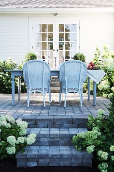 Shows the entire process of building their patio-/A Country Farmhouse: Outdoor Dining Patio