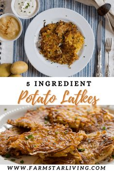 Happy Hanukkah! 🕎 We made these Potato Latkes with just five ingredients: onion, eggs, extra virgin olive oil, salt & pepper, and potatoes. This easy recipe can be served as a side item, appetizer, or even as a great veggie-centric entree! Plus, they're free of flour which makes them a great gluten-free option, too. Amazon Card, Potato Latkes, Five Ingredients, Happy Hanukkah, Blackberries, Easy Food To Make, Yum Yum, Olive Oil, Entrees