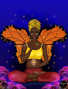 Home - Kaizeea Artz- A Daydreamer that creates from Love, Soul and the Guided Spirits. Black Girl Art, Black Art, Art Girl, Psychedelic Art, Black Characters, Art Corner, Turban Style, Black Pride, Pregnancy Workout