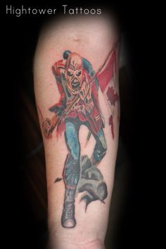 Iron Maiden. Please do not reproduce without permission. These tattoos were created individually for the client.