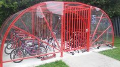 The new Bike Compound at St Albans RC Primary School