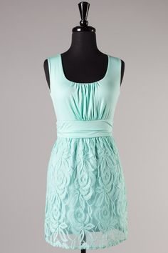 Turquoise lace dress, country bridesmaids dress $43.50
