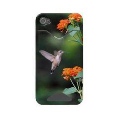 Hummingbird and Orange Flowers Tough Case