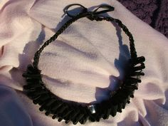 Statement Kette aus Fahrradschlauch - necklace made of bicycle inner tube - upcycling