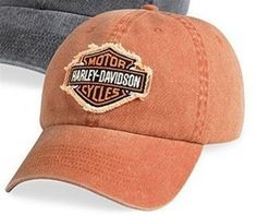 ab1e702ff5b Harley-Davidson® Men s Frayed Bar  amp  Shield Logo Patch Baseball Cap.  99442