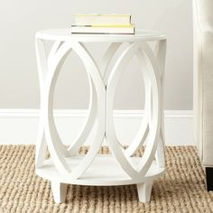 Find Safavieh American Homes Collection Janika Shady White Accent Table online. Shop the latest collection of Safavieh American Homes Collection Janika Shady White Accent Table from the popular stores - all in one Wood End Tables, End Tables With Storage, Entryway Tables, Side Tables, Coffee Tables, Living Room End Tables, Table Storage, White Accent Table, Accent Tables