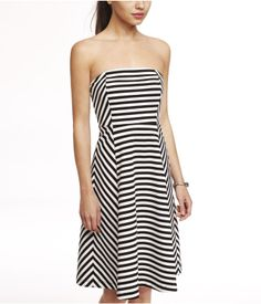 Express STRIPED FIT AND FLARE DRESS, Style: 7767805. $79.90