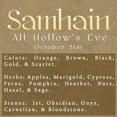 Sabbats~ Wiccans & Pagans celebrate Samhain