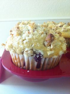 Raspberry-Blueberry Muffins with Streusel Topping